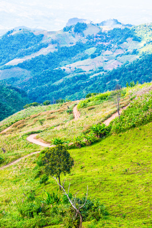 Mountain View in Chiangrai Province, Thailand. Stock Photo