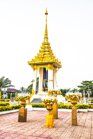 Royal Crematorium Replica at Phayao Province, Thailand. Stock Photo