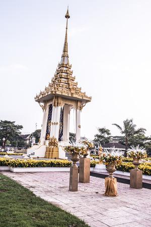 Royal Crematorium Replica at Phayao Province, Thailand. Stock Photo