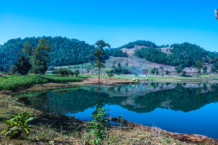 Lake view in Chiangmai province, Thailand. Stock Photo