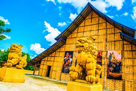 Meditation Hall in Cherntawan International Meditation Center, Thailand. Editorial