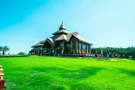 Beautiful Thai church in Prayodkhunpol Wiang Kalong temple, Thailand. Фото со стока