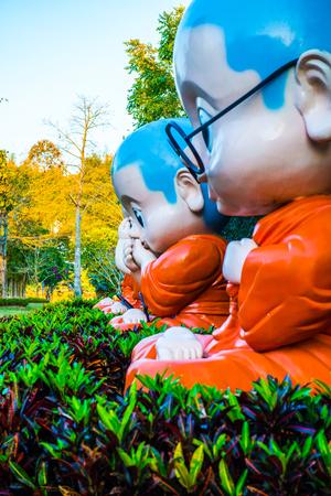Monk statue, Thailand. Stok Fotoğraf
