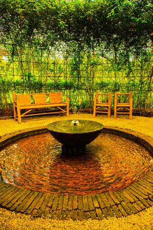 Fountain in the garden, Thailand.