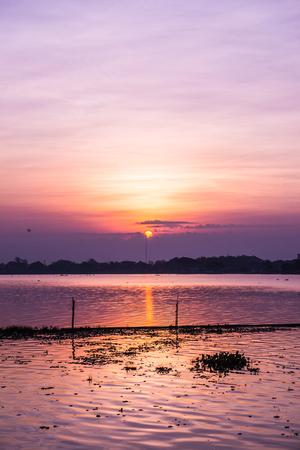 Kwan Phayao lake in morning time, Thailand.