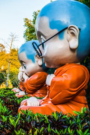 Monk statue, Thailand. Stock Photo