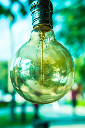 Vintage light bulb, Thailand. Stock Photo