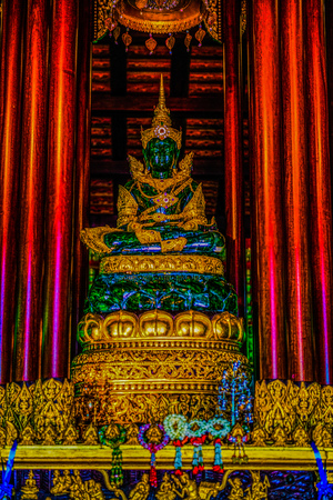 The Emerald Buddha at Chiang Rai Province, Thailand.