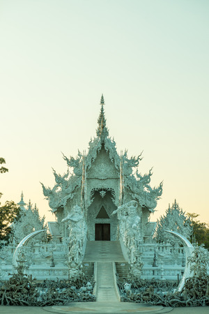Rong Khun temple in Chiang Rai province, Thailand. Stock Photo