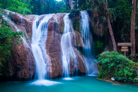 Than Sawan Waterfall in Doi Phu Nang National Park, Thailand.