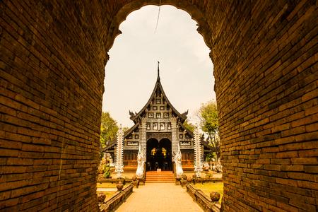 Beautiful church in Lok Molee temple, Thailand. 写真素材