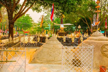 Sand pagoda for Songkran festival, Thailand.