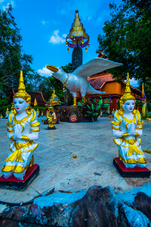 Buddhism statue at Wiang Ka Long cultural city, Thailand. Фото со стока