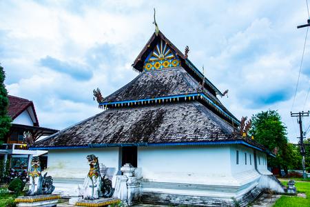 Lanna style church of Ban Ton Laeng temple, Thailand.