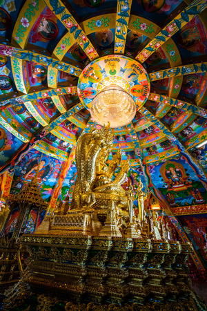 Buddha statue set in beautiful dome, Thailand.