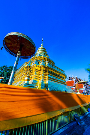Phra That Si Chom Thong Worawihan temple in Chiangmai province, Thailand. Stock Photo