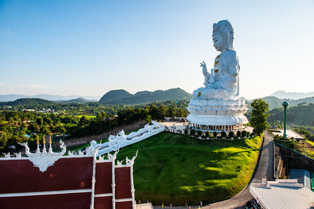 Guan Yin statue in Hyuaplakang temple, Thailand. Stock Photo