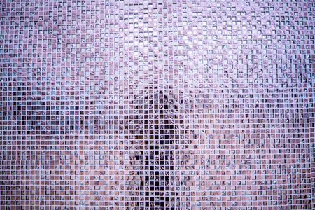 Beautiful mosaic wall or ceramic wall background, Thailand.