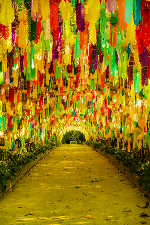 Tung Tunnel at Cherntawan International Meditation Center, Thailand. Banco de Imagens