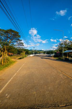 Landscape of Mueang Khong district in Chiangmai province, Thailand. Banco de Imagens