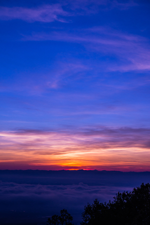 Morning sky with cloud in Chiang Mai city, Thailand. Stockfoto