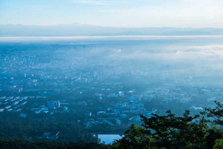 Chiang Mai city with morning sky, Thailand.