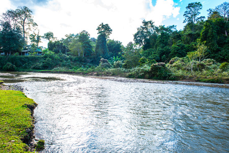 The river in Mueang Khong district, Thailand. Banco de Imagens