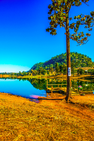 Lake view in Chiangmai province, Thailand. Foto de archivo - 116531788