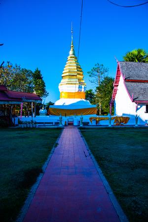 Phra That Beng Sakat temple in Nan province, Thailand. Редакционное