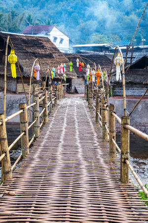 Small bridge above Mang river in Bokuai district, Thailand.