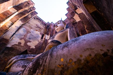 Ancient Buddha statue in Si Chum temple, Thailand.