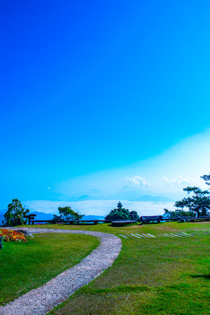 Mountain view at Doi Kiew Lom view point in Huai Nam Dang national park, Thailand.