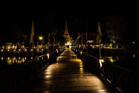 Tra Phang Thong temple in Sukhothai province, Thailand.