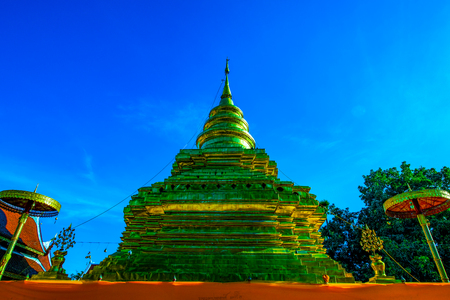 Phra That Si Chom Thong Worawihan temple in Chiangmai province, Thailand. 스톡 콘텐츠