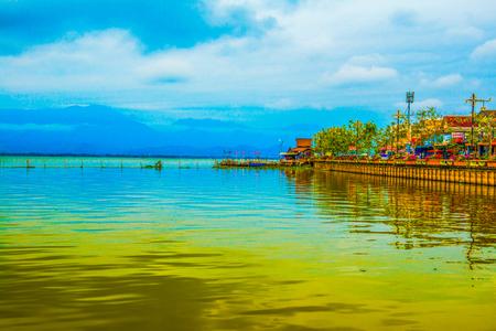 Kwan Phayao lake, Thailand. 스톡 콘텐츠