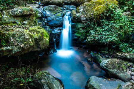 Sapan waterfall in Bokuai district, Thailand. Banco de Imagens