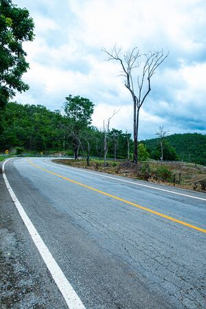 Agricultural area on mountain with road in Chiangmai province, Thailand. Reklamní fotografie