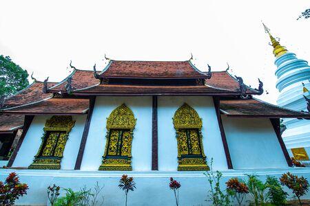 Lanna style church in the Phuttha Eoen temple, Thailand.