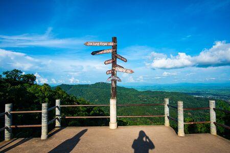 Doi Tung view point in Chiang Rai province, Thailand.