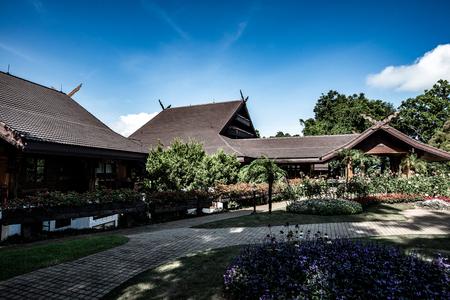 CHIANG RAI, THAILAND - August 28, 2016 : Doi Tung Royal Villa in Chiang Rai province, Thailand.