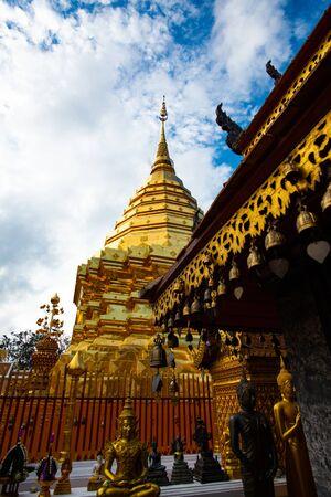 Phrathat Doi Suthep temple in Chiangmai province, Thailand.