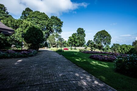 Beautiful park in Doi Tung Royal Villa, Chiang Rai province.