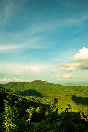 Mountain view when viewed from the KM 12 view point, Chiang Rai province.
