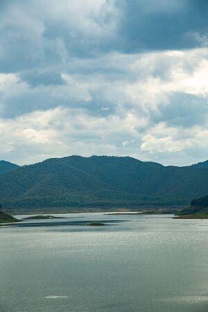 Natural view at Mae Kuang Udom Thara dam, Thailand.