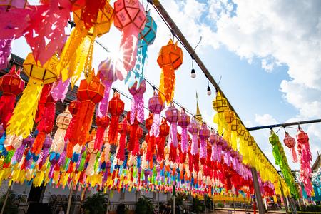 Lanna style lantern in Phra That Hariphunchai temple, Lamphun province.