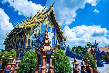 Beautiful church in Rong Seur Ten temple, Chiang Rai province.