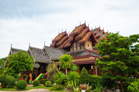 Nantaram temple in Phayao province, Thailand. 에디토리얼