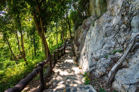 Pathway to tourist attraction of Phratupha rock painting, Lampang province.