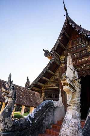 Wat Ton Kwen or Intharawat temple in Chiang Mai province, Thailand.
