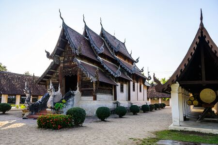 Wat Ton Kwen or Intharawat temple in Chiang Mai province, Thailand. Stock Photo
